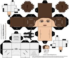 Cubee Princess Leia by CyberDrone.devian on - Star Wars Princesses - Ideas of Star Wars Princesses - Cubee Princess Leia by CyberDrone. Leia Star Wars, Star Wars Princess Leia, Star Trek, Star Wars Birthday, Star Wars Party, Papercraft Star Wars, Paper Toys, Paper Crafts, Aniversario Star Wars