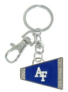 Royal Blue Air Force Academy AF Cheer Megaphone Key Chain
