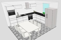 Valontalo: Neighbours kitchen plan