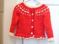 Valentine's Heart Cardigan pattern by Tricia Brownstein. Too cute!