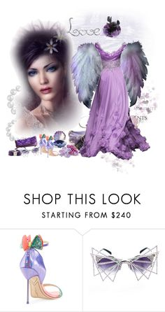"""""""Влюбленная Фея"""" by natalego ❤ liked on Polyvore featuring Sophia Webster and MATERIAL MEMORIE"""