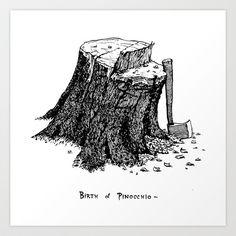 Birth of Pinocchio Art Print by Nicola Parrella - $20.00