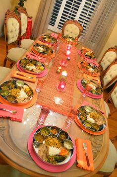 The Table Was Set With Thalis At My Dinner Party Last Saturday For A Deepawali Feast You Can Read About All Here Trad