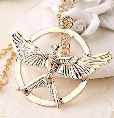 Hunger Games Mock Bird Pendant Necklace