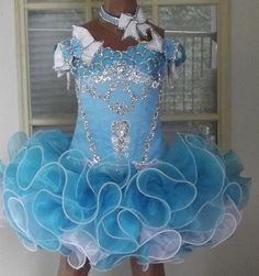 National Glitz Pageant Dress Sz 4t6t white and  by ellafurman, $350.00