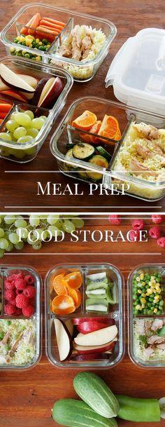Glass Meal Prep Containers #MealPrep #health #fitness #bento