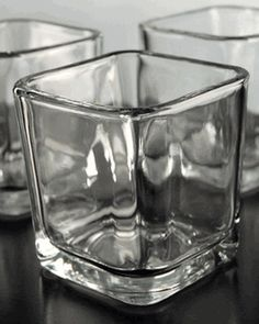 Square Glass Candle Holders 3in | Pack of 12 (Save 63%)