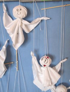 Gespenster basteln - Kinderspiele-Welt.de