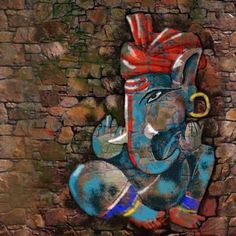 Ganesha Painting, Ganesha Art, Lord Ganesha, Iphone Mobile Wallpaper, Indian Art Paintings, Photo Wallpaper, Hd Photos, Deities, Cute Drawings