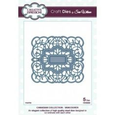 Creative Expressions Craft Dies by Sue Wilson - Canadian Collection - Vancouver