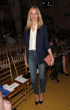 jeans, white shirt, blazer, black heels. check.  Lauren Santo Domingo
