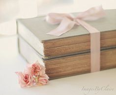 shabby chic books with roses