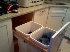 laundry room idea with stacked washer dryer | ... laundry live? Pics of pedestal/cubby solution! - Laundry Room Forum