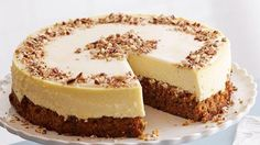 Get Carrot Cake-Cheesecake Recipe from Food Network