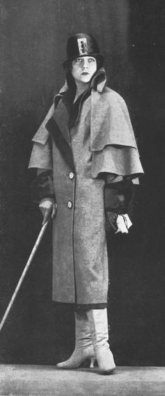 Manteau Postillon, 1924 - Lucile.