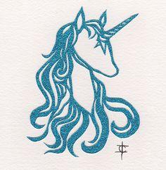 the last unicorn  hand cut paper   by Ivonne Carley #thelastunicorn #unicorn