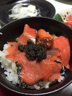 スモークサーモン丼?
