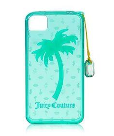 NIB Juicy Couture Iphone 4 4s Gelli Case Palm Tree Mermaid Seafoam