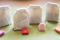 play tea bags from muslin and felt