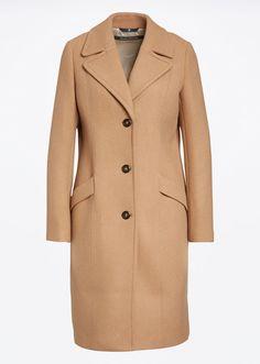 MARC O'POLO, Damen, Bekleidung, Jacken / Mäntel, Mantel, aus Wolle-Mix