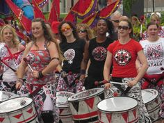 #Batala #drummer #girls #streetparade #Liverpool #maritime and #music #festival #UK
