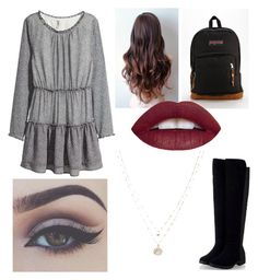"""""""First Day of School"""" by sissy110202 on Polyvore featuring H&M, JanSport, LC Lauren Conrad, women's clothing, women, female, woman, misses and juniors"""