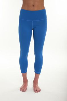 Blue Solid Compression Legging - TEMA Athletics