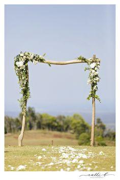 Rustic Floral Arbour design