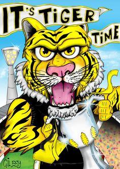 Richmond Football Club, Australian Football League, Tiger Art, Tigers, Disney Characters, Fictional Characters, Strong, Logos, Yellow
