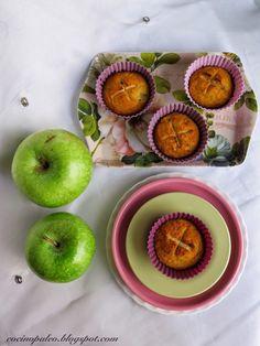 Cocino paleo ¿Qué pasa?: Magdalenas de harina de coco y manzana