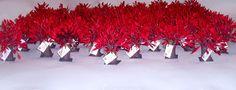 Símbolo da Família Condor Lembrancinha Carvalho Vermelho altura ± 13cm Simone Uller Rosas Artesanais
