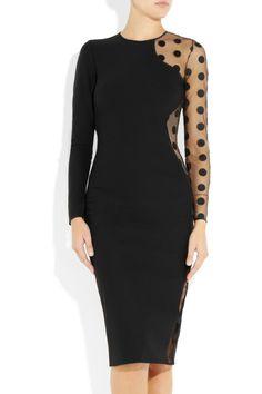 1stdibs  STELLA MCCARTNEY black sheer tulle polka dot dress