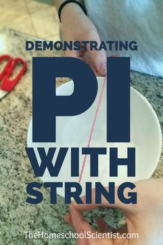 demonstrating pi with ststring - Pi Day The Homeschool Scientist Homeschool Math, Curriculum, Montessori Elementary, Homeschooling, Learn Math Online, Math Lab, Science Activities For Kids, Fun Math, Kids Math