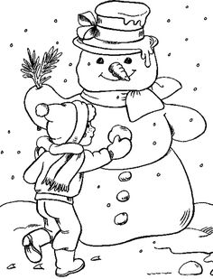Free Printable Winter Coloring Pages | Winter Coloring Pages For Kids. Print and Color the Pictures
