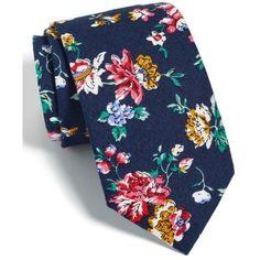 Men's Nordstrom Men's Shop Floral Cotton Tie (1.710 RUB) ❤ liked on Polyvore featuring men's fashion, men's accessories, men's neckwear, ties, blue, mens ties, mens floral ties, mens cotton ties and mens blue tie