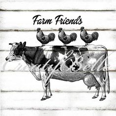 Vintage Farm Animal Stack on Gingham Large Instant Digital Animal Graphic, Graphic Art, Primitive Labels, Vintage Wreath, Vintage Farm, Scrapbook, Decoupage, Farm Animals, Altered Art