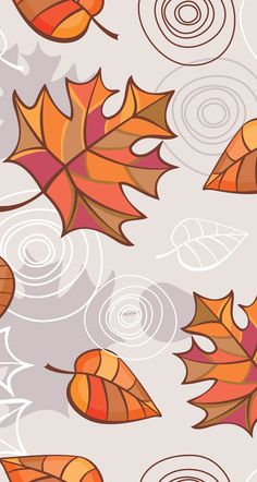 Fall leaves art background