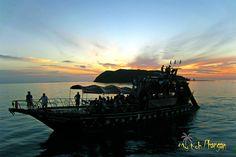 The pier in Thongsala, Ko Phangan, during sunset    #sunsetpic #boat #triparoundtheisland
