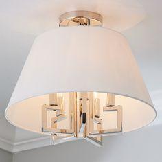 Greek Key Convertible Ceiling Light - Shades of Light Ceiling Light Shades, Semi Flush Ceiling Lights, Lighting Shades, Beach Lighting, Mini Chandelier, Chandelier Shades, Square Ceiling Lights, Large Pendant Lighting, Drum Pendant