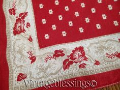 EARLY ONE! Antique 19th c Western Cowboy Bandana Handkerchief Scarf  Vintageblessings