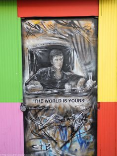 Shop Front Door – Brick Lane – The world is Yours – Montana – Don