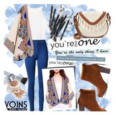 """Kimono by YOINS"" by natasa-topalovic ❤ liked on Polyvore featuring T-shirt & Jeans, Christian Dior, Valentino, Bobbi Brown Cosmetics and yoins"