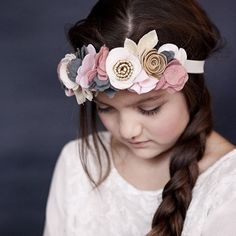 Headbands by Flora and Peg. Beautiful headbands for little girls.  Soft pastel tones| photography by Sharla Pike