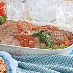"""Old-Fashioned Pot Roast with Gravy Recipe -""""We raise beef and have a large garden, so I try to find new ways to use these ingredients to make nutritious meals,"""" relates Joan Airey from Rivers, Manitoba. Simmered in a brown gravy flecked with veggies, this roast is fork tender when sliced."""