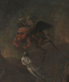Pieter Fris - Orpheus and Eurydice in the Underworld, 1652 (detail)
