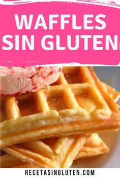 Prote na Keto Waffles - S lo 4 Ingredientes Vegan Gluten Free, Gluten Free Recipes, Healthy Recipes, Waffles Sin Gluten, Protein Waffles, Crepes And Waffles, Keto Waffle, Sem Lactose, Sweet And Salty