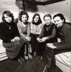Simone de Beauvoir with members of the Mouvement de libération des femmes (MLF),1970. Photo: Jean-Loup Sieff.  — in Paris, France.