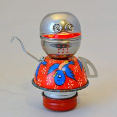A nightlight and robot in one? Yes, yes, she is. This little bot is a sucker for a rousing chorus of Im a Little Teapot, robot-style. Plus, shes a fantastic nighttime companion with her soft glow and portable size. If youre looking for an extra special friend, this is the bot for