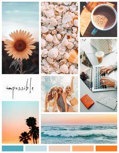 Colour Pallete, Colour Schemes, Web Design, Design Color, Brand Design, Orange Aesthetic, Branding, Sunset Colors, Orange And Turquoise