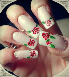 English rose by ninskynina - Nail Art Gallery nailartgallery.nailsmag.com by Nails Magazine www.nailsmag.com #nailart